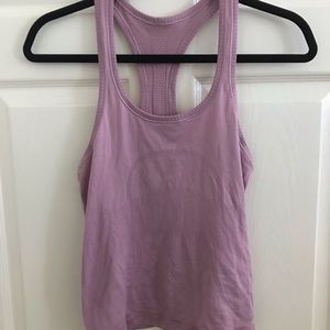 Swiftly Tech Racerback in Moss Rose Size 6